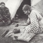 Making pemmican was a tedious but vital task.