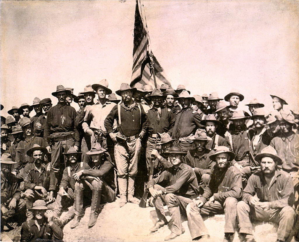 Swingin' that big stick… TR and the Rough Riders in Cuba.