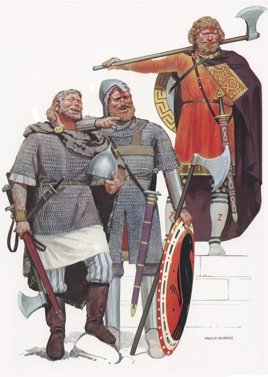 The Varangian Guard. Art by Angus McBride.