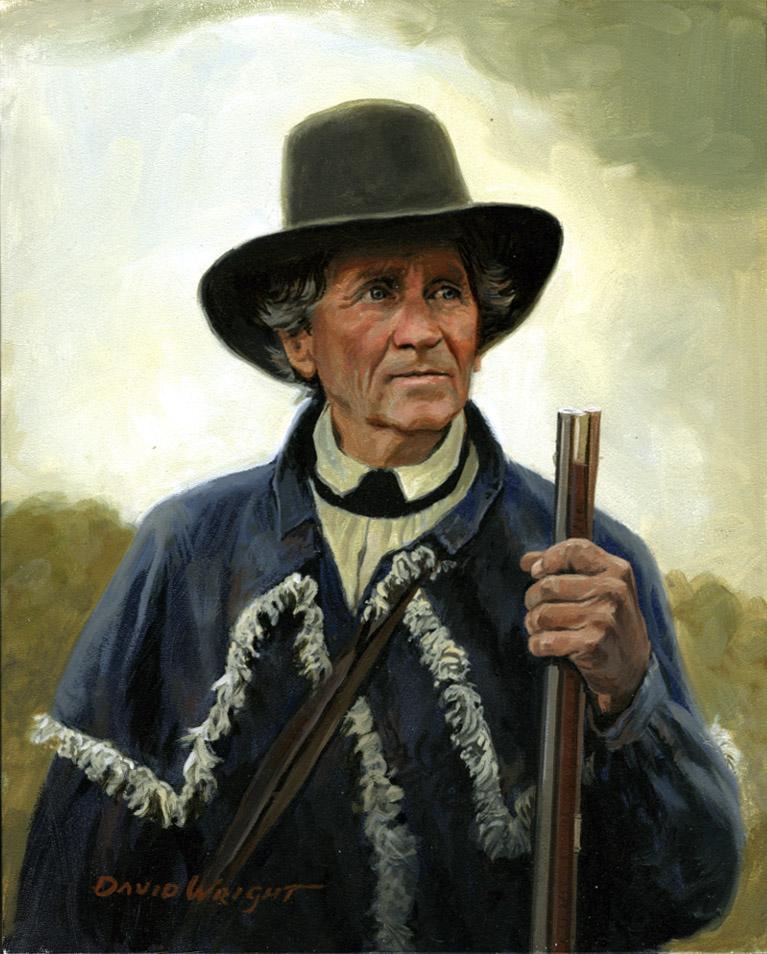 """Jim Dresslar as Daniel Boone,"" by David Wright"