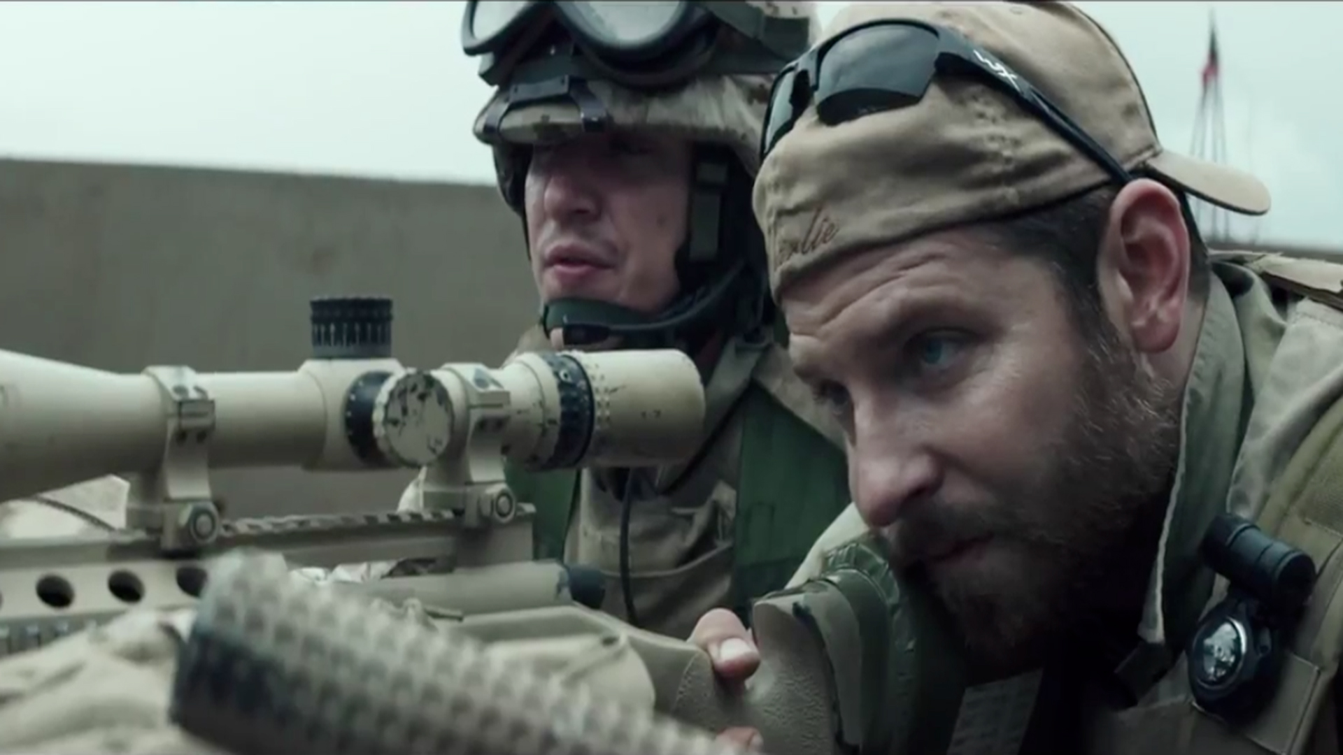 Movie Chris Kyle as portrayed by Bradley Cooper.