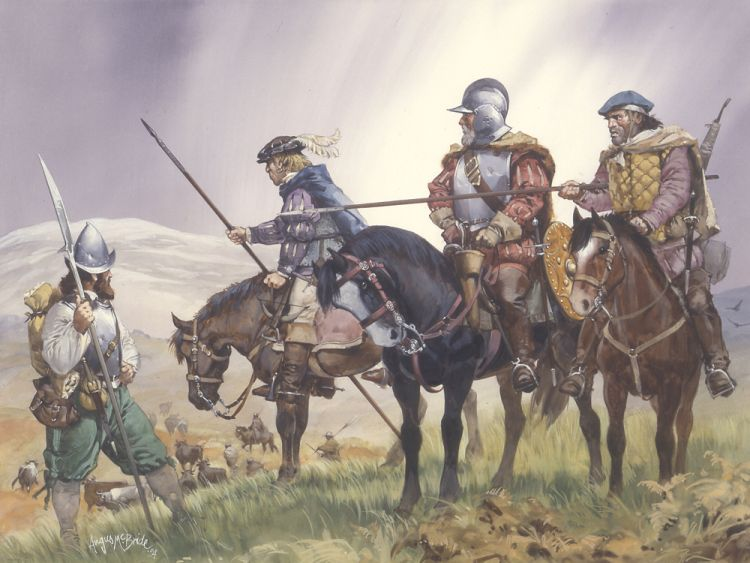 Border Reivers depicted by the great Angus McBride.
