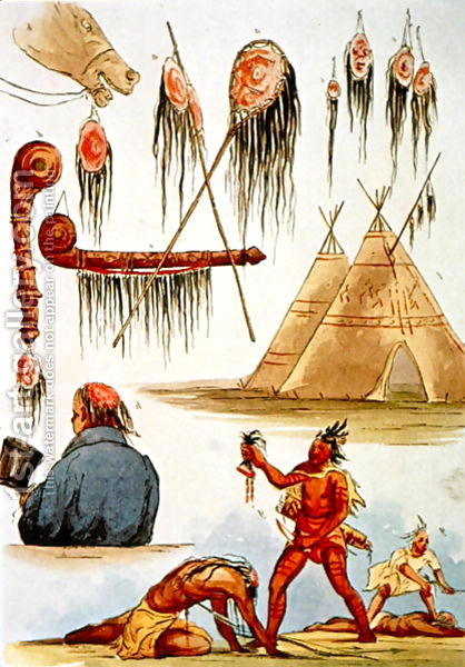 George Catlin found a culture of Indian-on-INdian violence in full flow in the early 19th Century.