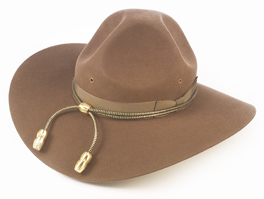 The World War I-era campaign hat — now associated with Mounties and drill sergeants.