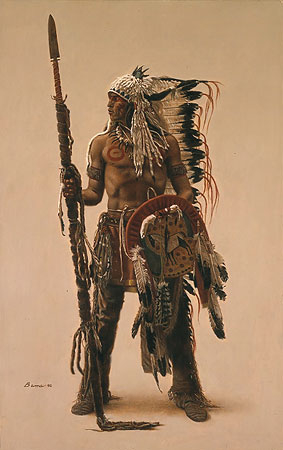 A Sioux warrior by James Bama. Yes, they were MEN.