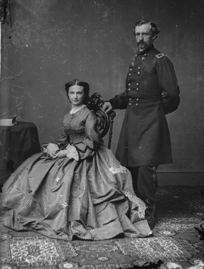 George and Libbie Custer made a handsome and glamorous couple. Their marriage was a very passionate one.