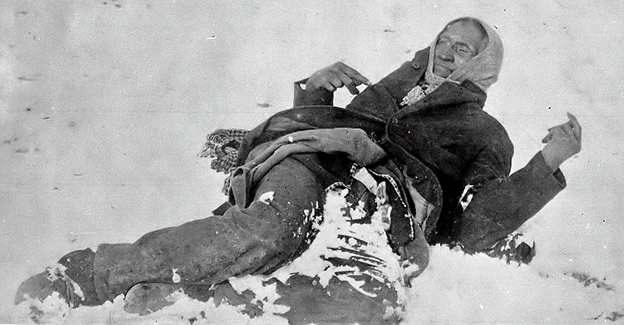 Chief Big Foot — dead in the snow.