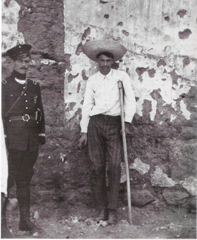 General Pablo Lopez, about to meet the firing squad in Chihuahua City. He died game.