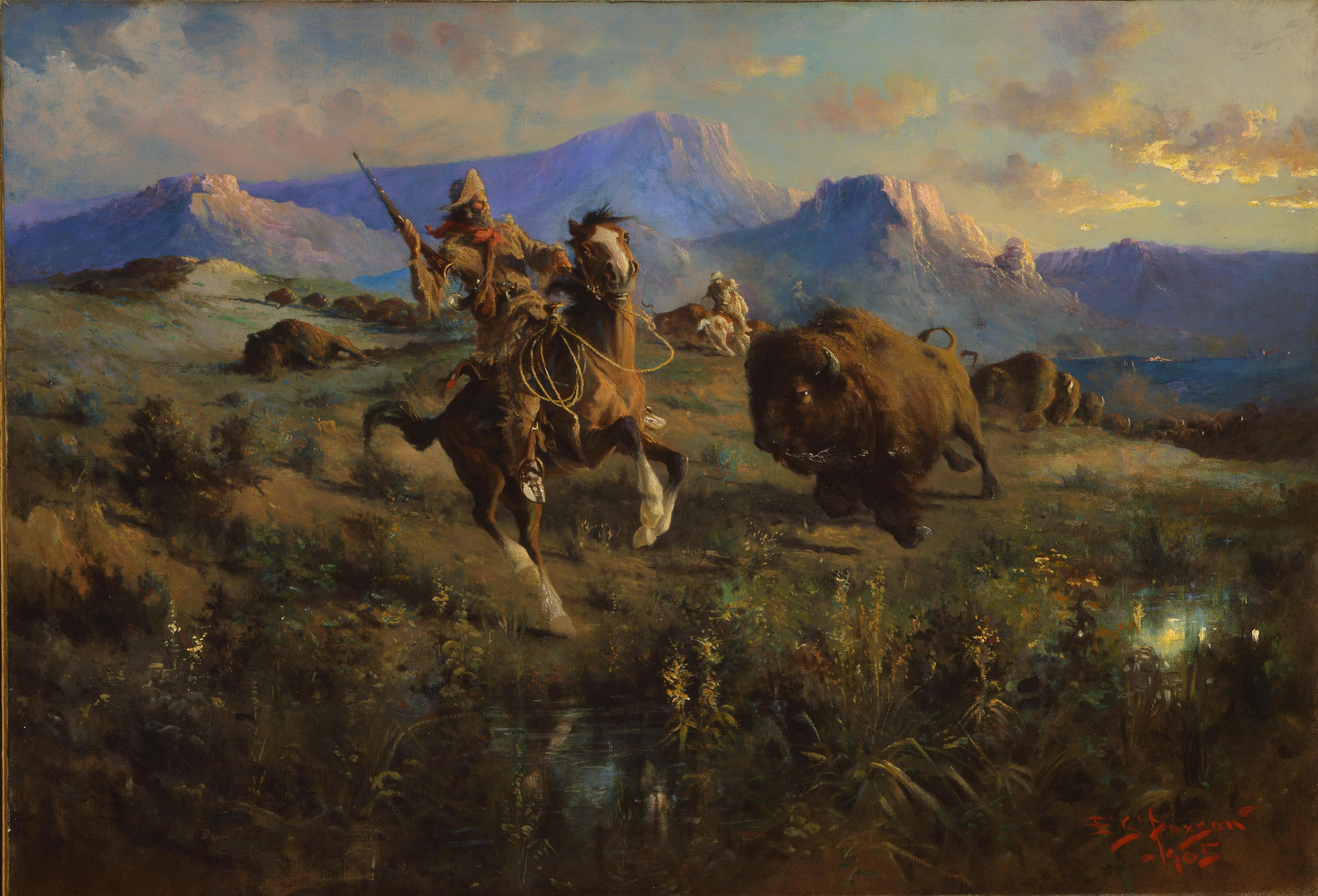 Edgar_Samuel_Paxson_-_Buffalo_Hunt