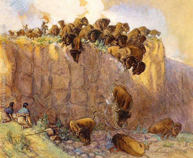 Buffalo jump. Charles M. Russell