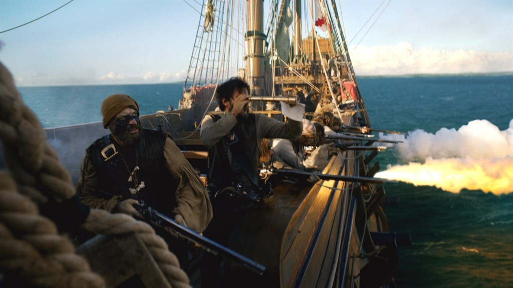 Benerson Little is a consultant on Black Sails. This battle scene accurately portrays the heavy use of longarms.