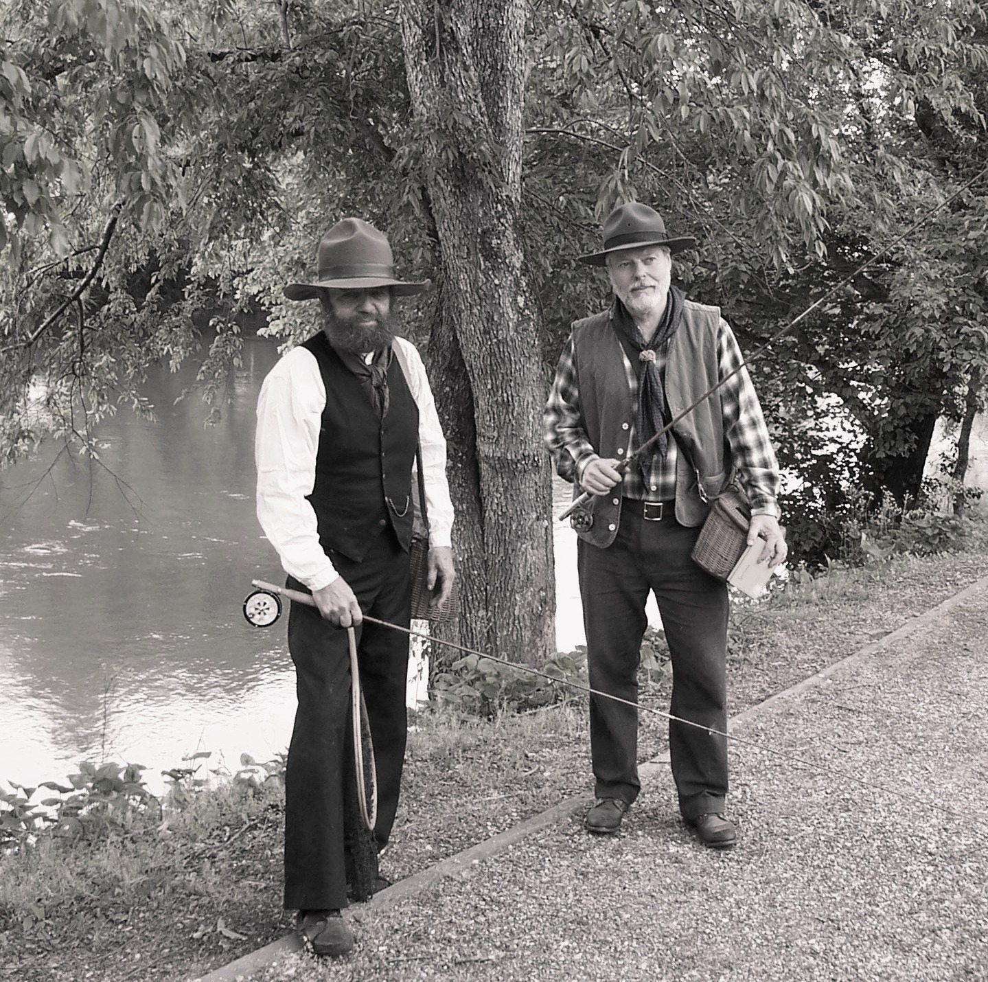 Steve Watts (left) and Wayne Williams, looking like men should look doing what men should do at Kephart Days in 2011.