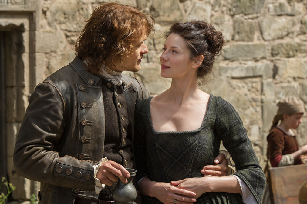 'Outlander' is, at its heart, a romance, a challenging love affair between Claire Beauchamp Randall and the young Highlander Jamie Fraser. It's a chick-flick that men can thoroughly appreciate.