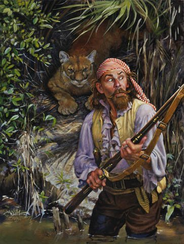"""Foraging for Dinner,"" by Don Maitz. The pirates of the Main were often hunters."