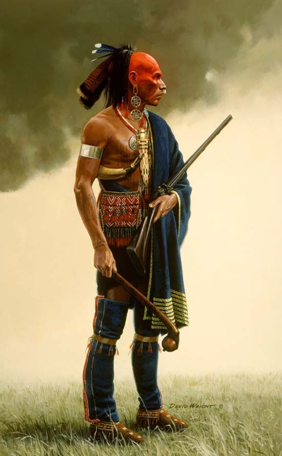 Panther would have looked very much like this Huron (Wyandot) warrior portrayed by frontier artist David Wright.