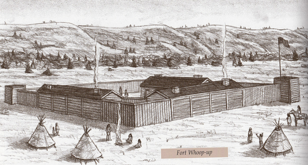 Fort Whoop-up was a notorious whiskey trading center on the Alberta prairie.