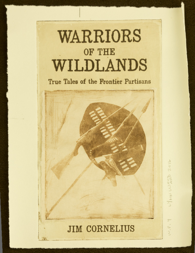 Warriors of the Wildlands cover intaglio, WP 4