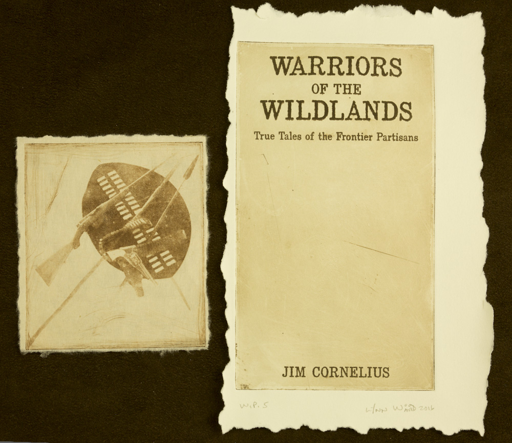 Warriors of the Wildlands cover intaglio, WP 5