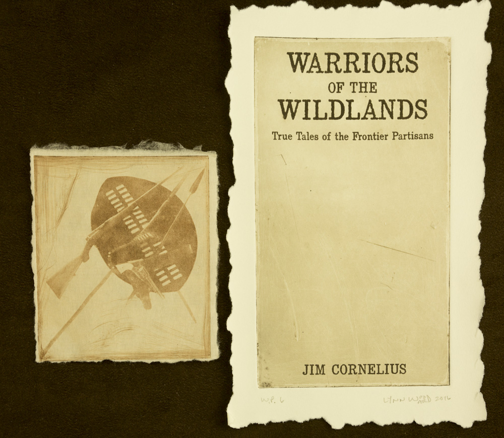 Warriors of the Wildlands cover intaglio, WP 6