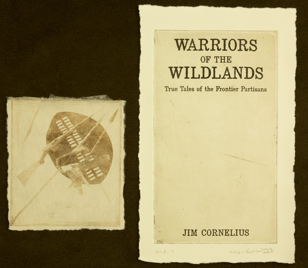 Warriors of the Wildlands cover intaglio, WP 7